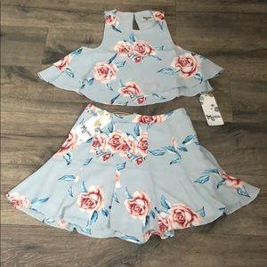 MuMu Top and Skirt set NWT